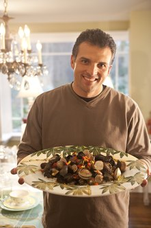 Seafood like oysters and clams are a good source of iron for men.