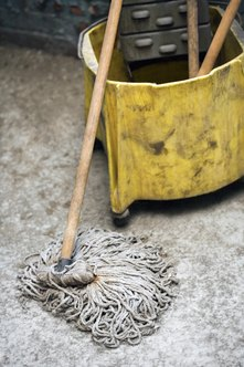 Mopping floors is a common janitorial task.