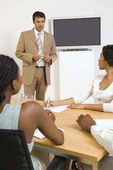 Employee training methods include videos, CDs, PowerPoint presentations and trainers.