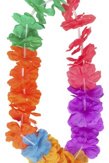 Greet each attendee at a Hawaiian-themed event with a lei.