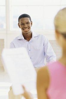 Interviewers test a student applicant's maturity and social skills by asking a variety of questions.