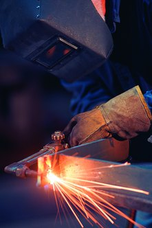 Welders fuse pieces of metal together with intense heat.