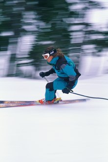 Work on your leg strength to improve your ski performance.