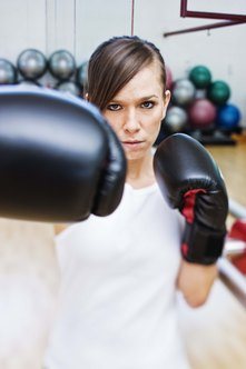 Daily training for a boxer demands grueling exercise.