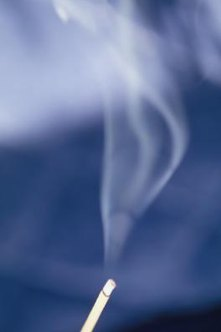 Leaks around window frames can disrupt the smoke from an incense stick.