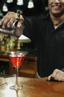 Skill, personality and awareness are important bartender qualifications.