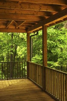 The wood on a deck must be protected from the elements.