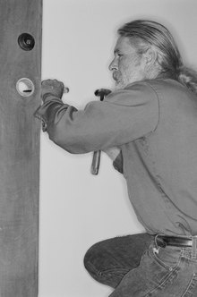 Locksmiths install locks and keysets on varied types of doors.