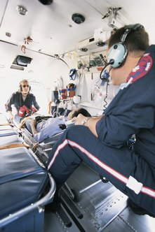 Respiratory therapists may accompany patients during medical air transport.