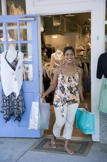 Clothing boutiques fill a niche for consumers with interesting merchandise and dispays.