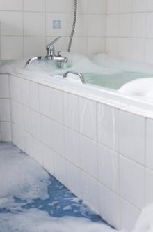 Leaking bathtub drains should be repaired immediately.