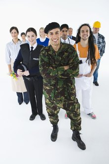 Military personnel may be suited for a wide variety of civilian jobs.