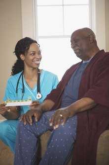 Psychiatric nurses assist with patients experiencing varying mental health issues.