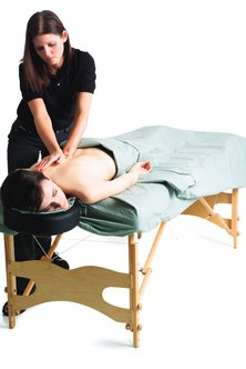 Massage school instructors start their careers as masseuses, earning hands-on experience.
