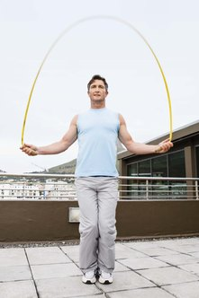 Jumping rope for just a half hour can provide a challenging cardio workout.