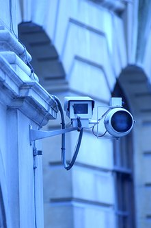 Some surveillance cameras can be adjusted remotely.
