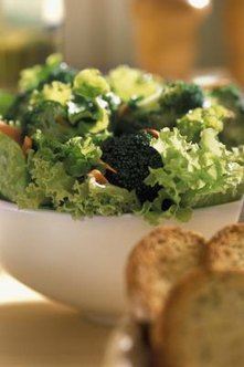 Get more vitamin E by adding broccoli to a salad made with canola oil dressing.