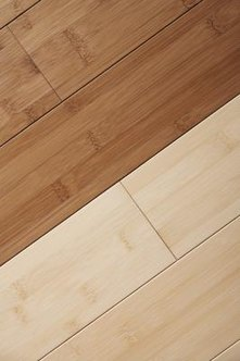 Bamboo flooring is available in a variety of shades.
