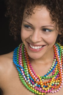Some types of costume jewelry are vibrant and colorful.