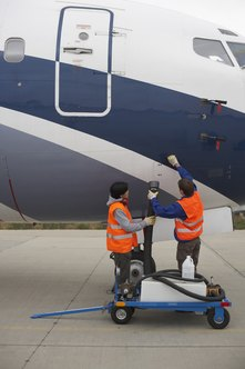 Refueling aircraft is just one of the duties of a line airport technician.