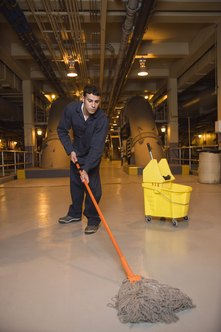 Purchase basic supplies to launch your commercial cleaning business.