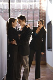 Workplace relationships can be the source of jealousy.