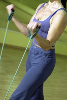 Tone and sculpt your whole body at home with resistance bands.