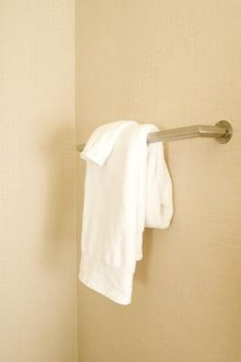 Installing a towel rod is easy. Getting them to hang the towels properly, not so much.