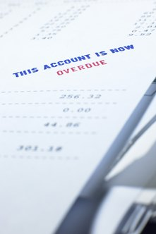 Sending an overdue invoice is a standard procedure in debt collection.