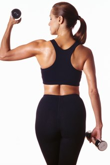 how to use weights to tone arms