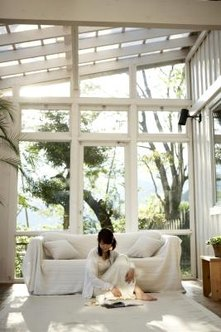 Cozy sunrooms are a great place to kick back.
