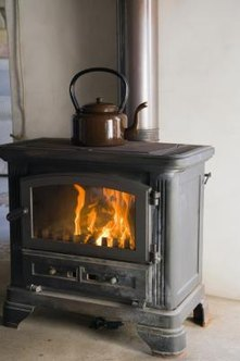 Wood stoves provide heat and rustic charm to any home.