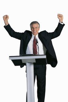 Motivational speakers' earnings are contingent on the number of speeches they make.