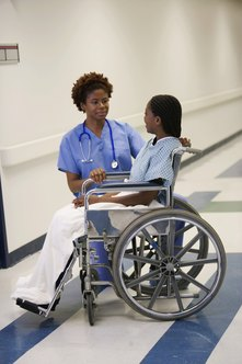 Acute CNAs may help patients in moving from room to room within the hospital.