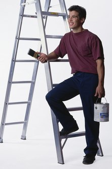 Painters find work with private and commercial customers.