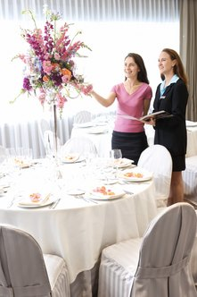 Visiting a banquet site beforehand prepares you to plan the event.