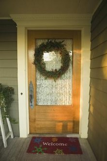 Cover the glass in a door for greater privacy.