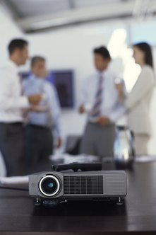 A projector allows you to display your desktop on a large screen.
