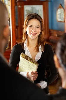 A hostess interview can be rather informal and still be effective.