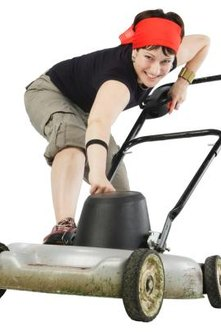 When you can't start your mower, the gas or plugs may need cleaning.