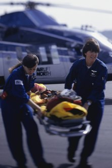 An air ambulance is a flying intensive care unit.