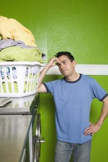 Wet clothes are a good indication that the heating element is burned out.