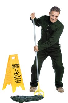 Janitorial workers need to be fit and strong.