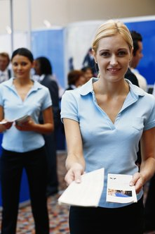 Attending trade shows can be an excellent way to attract business.