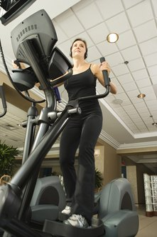 Elliptical trainer machines work the heart, lungs and several key muscle groups.