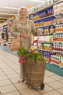 Some seniors use a transportation service to go grocery shopping.