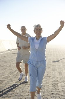 Jogging for senior citizens has many proven health benefits.