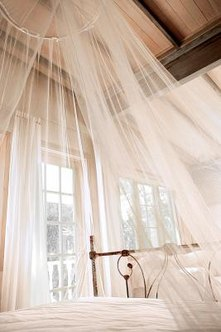 Dye curtains with coffee for a vintage effect.