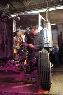 A diesel truck mechanic may specialize in different classes of trucks.