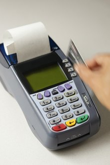 Businesses take credit cards through special processing accounts.